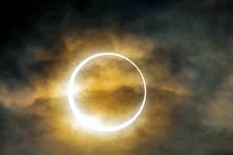 Солнечное затмение. Фото THEJAB   Shutterstock